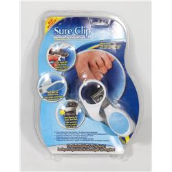 NEW SURE CLIP COMPLETE NAIL CLIPPING SYSTEM
