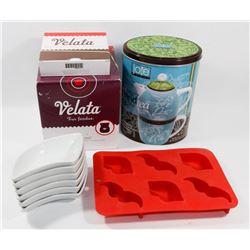 FLAT OF VELATA FONDUE WARMER SOLD WITH JOE TEA