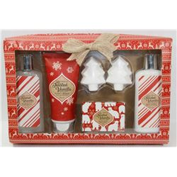 TOASTY VANILLA FLAVORED GIFT SET.