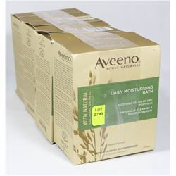 4 BOXES OF AVEENO DAILY MOISTURIZING BATH