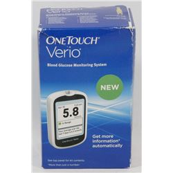 ONE TOUCH VERIO BLOOD GLUCOSE MONITOR.