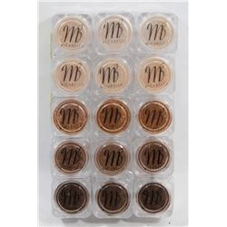 15 MICABELLA EYE SHADOW SHIMMER POWDER NATURAL