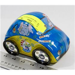 DR. SEUSS TIN BEETLE BUG CAR.