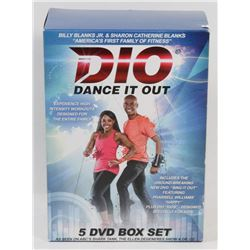 DIO DANCE IT OUT 5 DVD BOX SET.