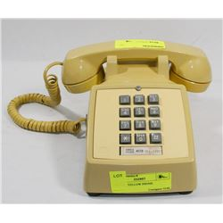 VINTAGE YELLOW PHONE.