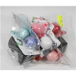 BAG OF ASSORTED LIP BALMS.
