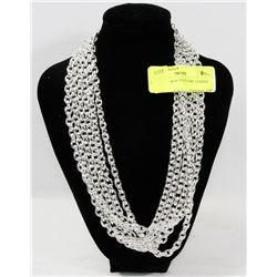 LOT OF 6 THICK COSTUME CHAINS