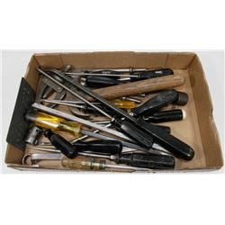 BOX OF VARIOUS TOOLS