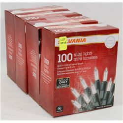 4 BOXES OF SYLVANIA MINI LIGHTS