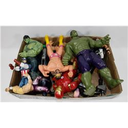 BOX OF VINTAGE TOYS