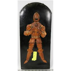 VINTAGE KNIGHT IN ARMOR REAL LEATHER