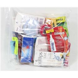 BAG OF ASSORTED LIP BALMS AND OINTMENTS.