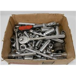 LOT OF WRENCHES & SOCKETS