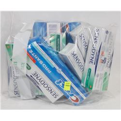 LARGE BAG OF ASSORTED TOOTHPASTE