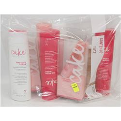 BAG OF ASSORTED CAKE SHAMPOOS AND CONDITIONERS
