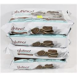 4 PACKS OF GLUTINO GLUTEN FREE COOKIES