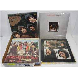 LOT OF 9 BEATLES RECORD ALBUMS.