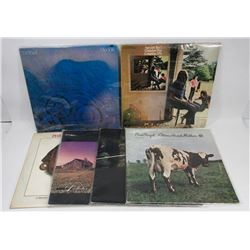 LOT OF 6 PINK FLOYD RECORD ALBUMS.