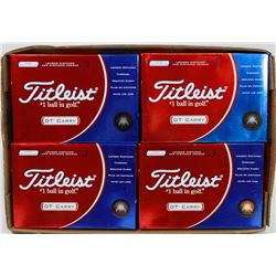 FLAT OF TITLEIST DT CARRY RECLAIMED GOLF BALLS.