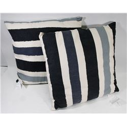 2 NEW CANVAS TYPE THROW CUSHIONS.