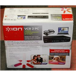 ION VCR 2PC VIDEO CONVERSION SYSTEM.