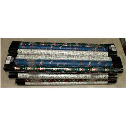 LOT OF 18 ROLLS OF WRAPPING PAPER.