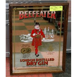 BEEFEATER MIRRORED ADVERTISEMENT