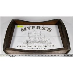 "MYERS WOOD/CERAMIC SERVING TRAYS 20"" LONG"