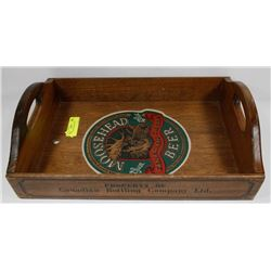 MOOSE HEAD SERVING TRAY.