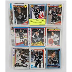 LOT OF 18 GRETZKY HOCKEY CARDS.