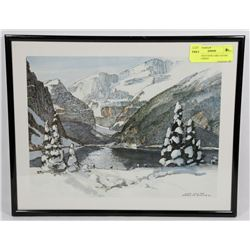MEREDITH EVANS LAKE LOUISE FRAMED PRINT