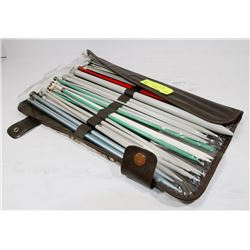 LARGE KNITTING NEEDLE SET WITH CARRY POUCH
