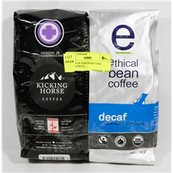 2 PACKS OF DARK ROAST ONE DECAF COFFEE