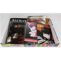 FLAT OF ASSORTED GRAPHIC NOVELS AND COMICS, BATMAN