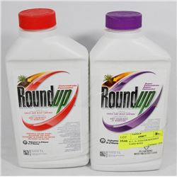 LOT OF 2 , 1L JUGS FOR ROUNDUP GRASS AND WEED