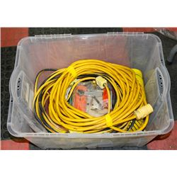 TOTE OF CORDS, CABLES AND HOSES