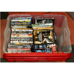 TOTE WITH OVER 70 DVDS