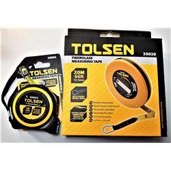3)  LOT OF 2 TOLSEN MEASURING TAPES