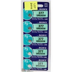 5PC SONY 377-SR626SW BATTERY PACK