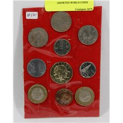 LOT OF ASSORTED WORLD COINS