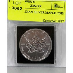 1 OZ CANADIAN SILVER MAPLE COIN
