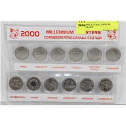 2000 COMPLETE MILLENNIUM QUARTER SET