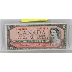 1954 CANADA $2 BILL