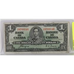 1937 COYNE/TOWERS $1 BILL