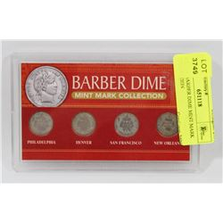 SILVER BARBER DIME MINT MARK COLLECTION