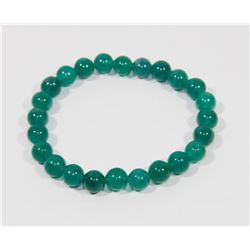 #118-NATURAL GREEN AVENTURINE BEAD BRACELET 8MM