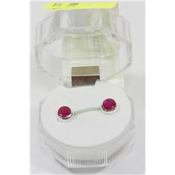 #19-NATURAL RUBY STUD EARRINGS