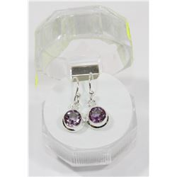 #30-NATURAL AMETHYST DANGLING EARRINGS
