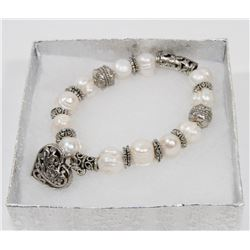 #1-FRESH WATER PEARL BRACELET WITH HEART SHAPE