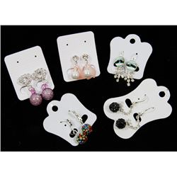 NEW! 5 PAIRS OF DESIGNER FASHION EARRINGS